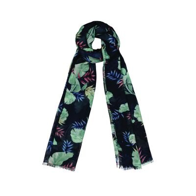 Milana Tropical Leaf Scarf
