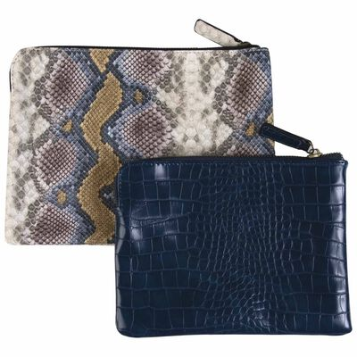 Two-Piece Vegan Leather Pouch Set