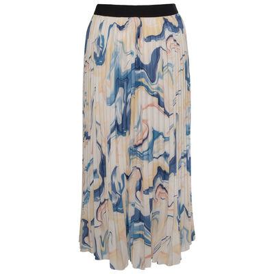 Flora Tie Dye Pleated Skirt