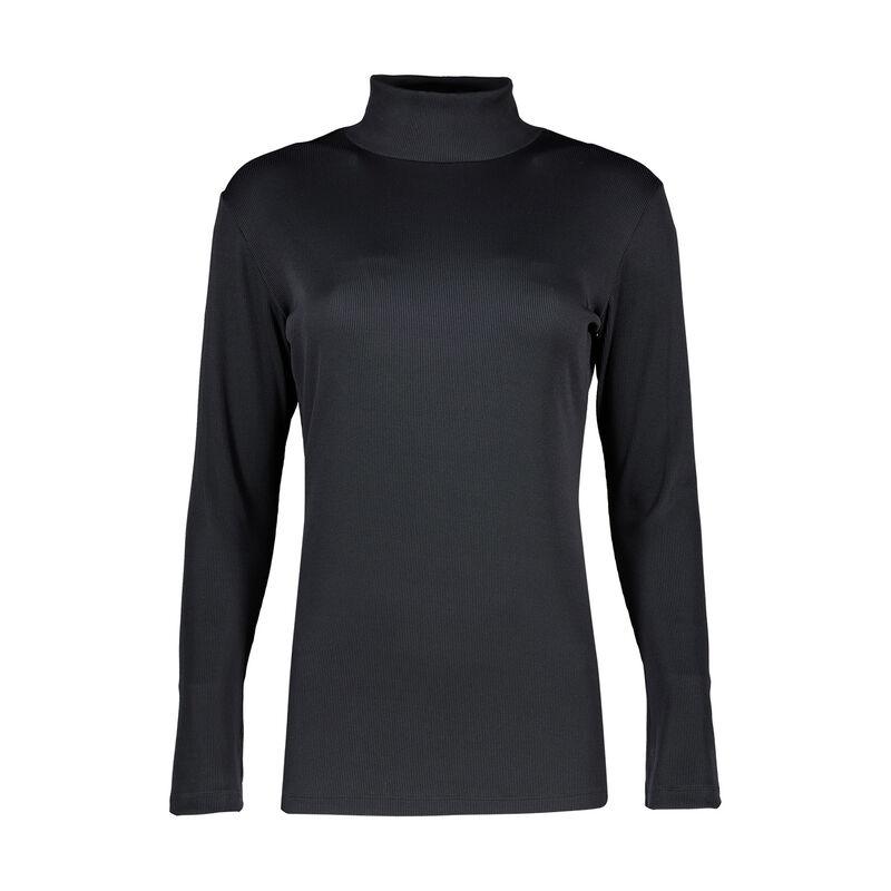 Viscara Ribbed Polo Neck -  black