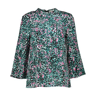 Haley Print Pleat Blouse