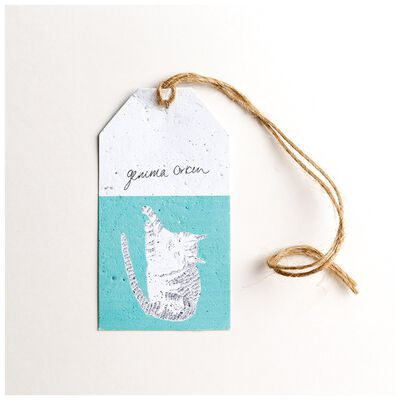 Gemma Orkin Turquoise Cat Tag