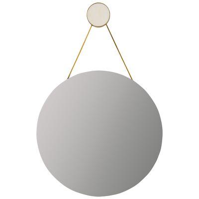 White Marble Round Mirror