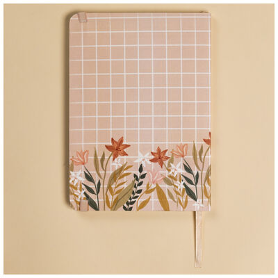 Floral Grid Notebook