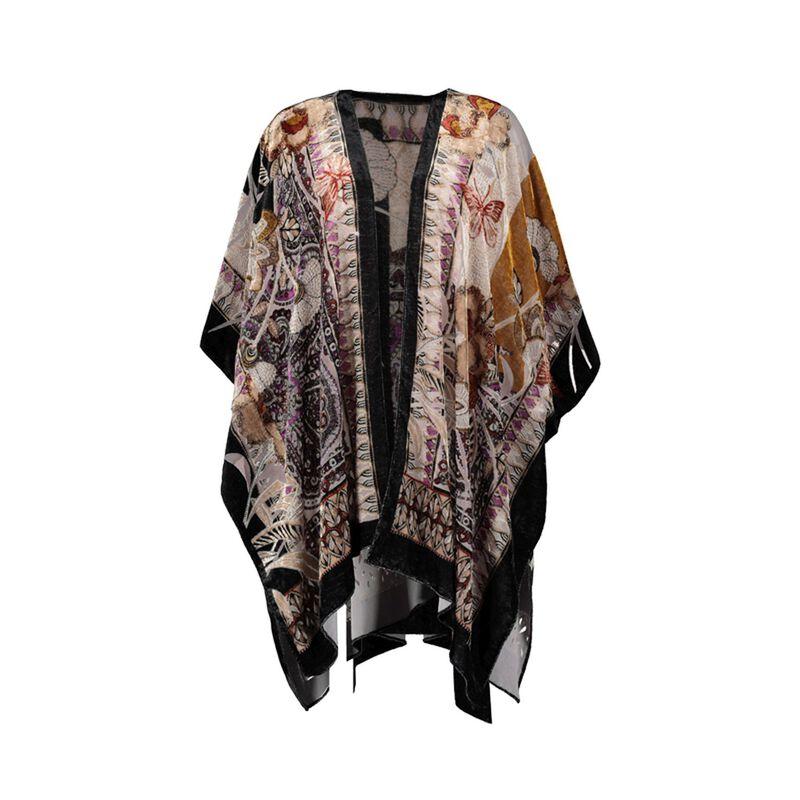 Aspen Velvet Burn-out Kimono -  assorted