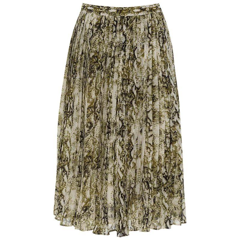 Kensington Pleated Skirt -  stone
