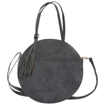 Angelina Vegan Leather Round Bag