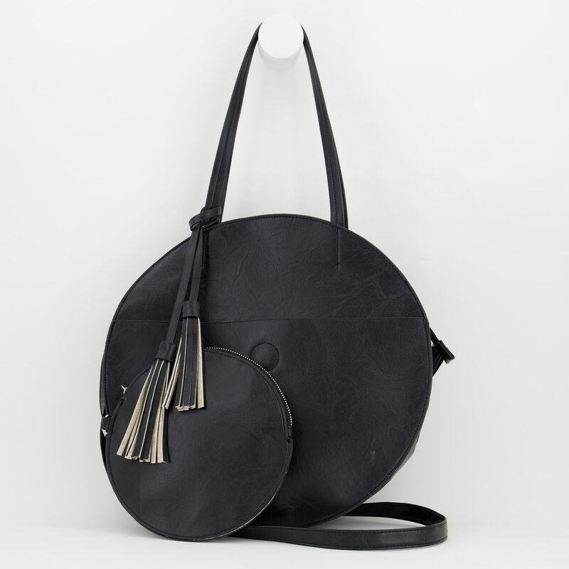 Angelina Vegan Leather Round Bag -  c01