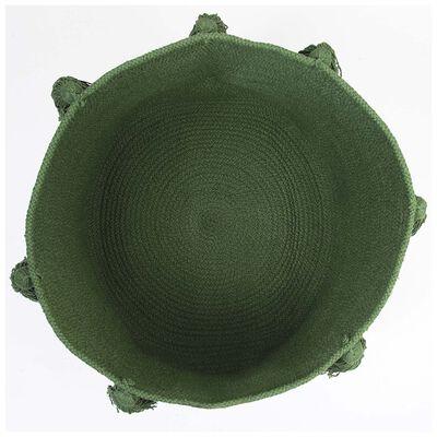 Green Tassel Basket