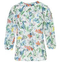 Misha Printed Blouse -  green