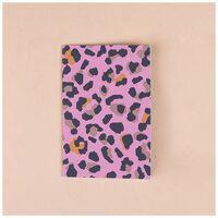 Pink Animal Print Card -  pink-black