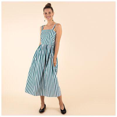 Kes Stripe Fit & Flare Dress
