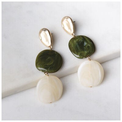 Statement Resin Bead Drop Earrings