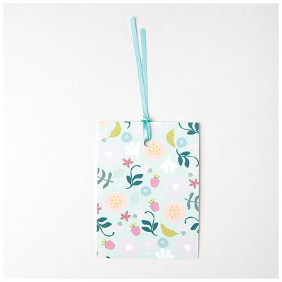 Love Letters Blue Floral Mom Tag