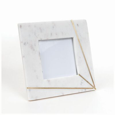 Marble and Brass Ray Frame