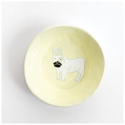 Gemma Orkin Pale Yellow French Bulldog Snack Bowl