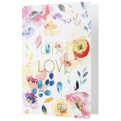 Love Letters Watercolour With Love Card