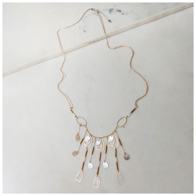 Shell & Disc Long Necklace