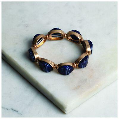 Oval Stone Encrusted Stretch Bracelet