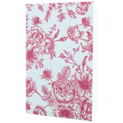Growing Paper Red Floral Card