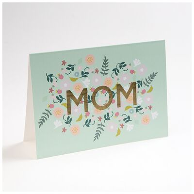 Love Letters Blue Floral Mom Card