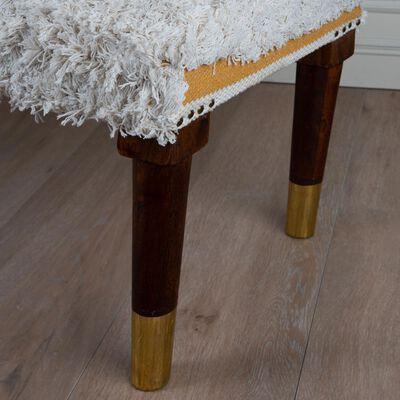 Textured Ochre & Milk Bench