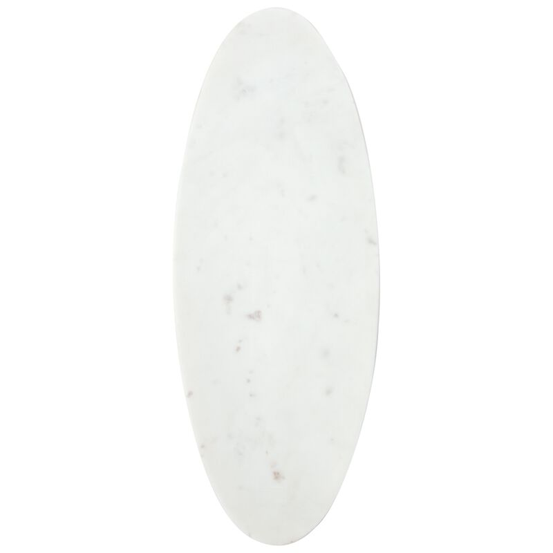 Large White Marble Oval Server -  white