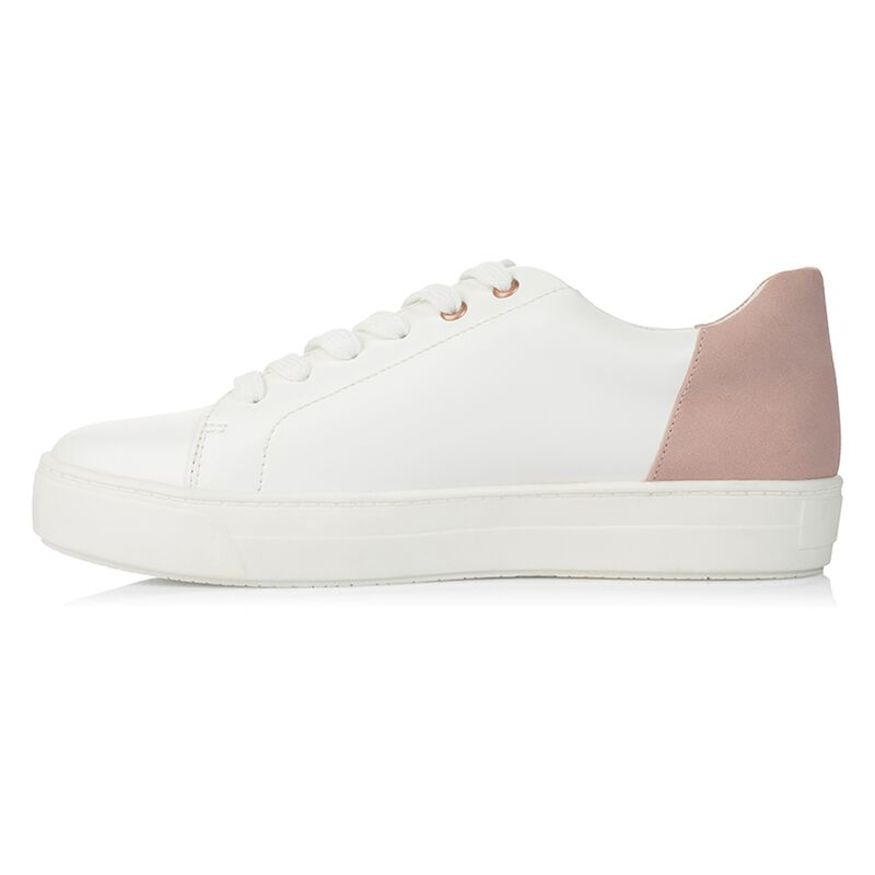Rare Earth Trixie Sneaker -  white-palepink