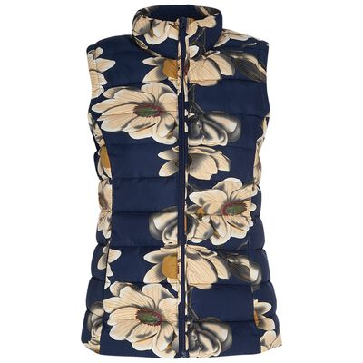 Rare Earth Women's Vivian Floral Sleeveless Puffer
