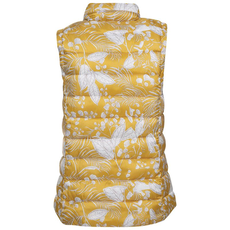 Amor Printed Sleeveless Puffer -  yellow