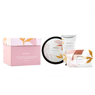 Wild Flower Body Butter, Hand Cream & Soap Gift Set