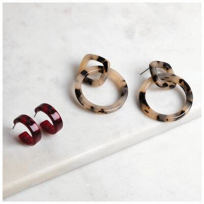 2-Pack Resin Earrings