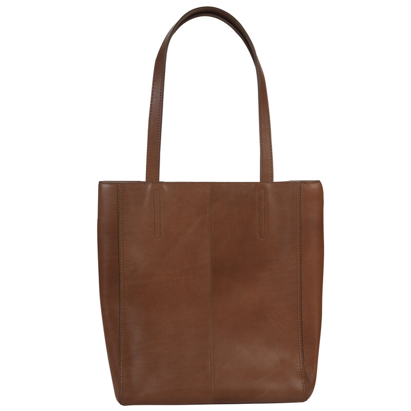 Alisyn Leather Tote Bag -  tan