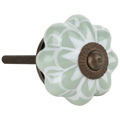 Sage Flower Knob