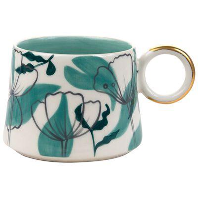 Kapula Jade Floral Mug