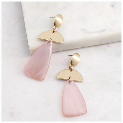 Triangle & Halfmoon Drop Earrings