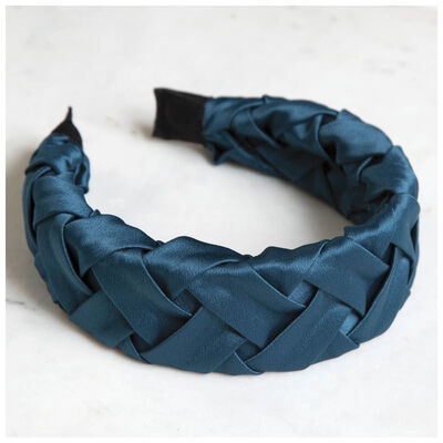 Plaited Sateen Alice Band