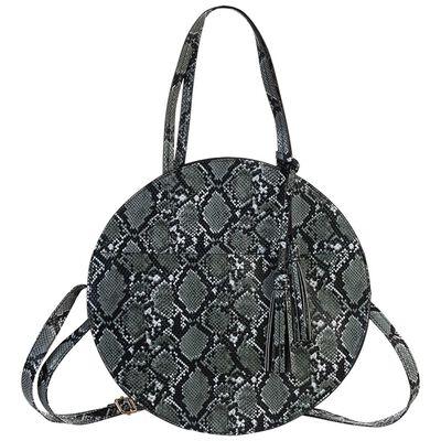 Angelina Vegan Leather Round Bag