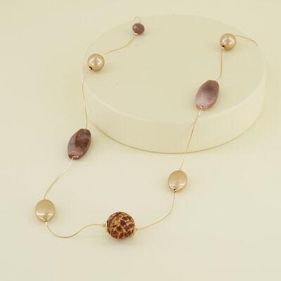 Stone Bead Satellite Necklace