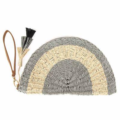 Jossie Straw Clutch Bag