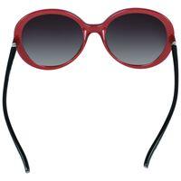 Classic Oversized Round Sunglasses -  black-red
