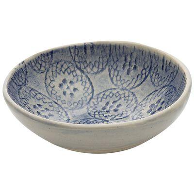 Wonki Ware Jocelyn Blue Salt Pinch Pot
