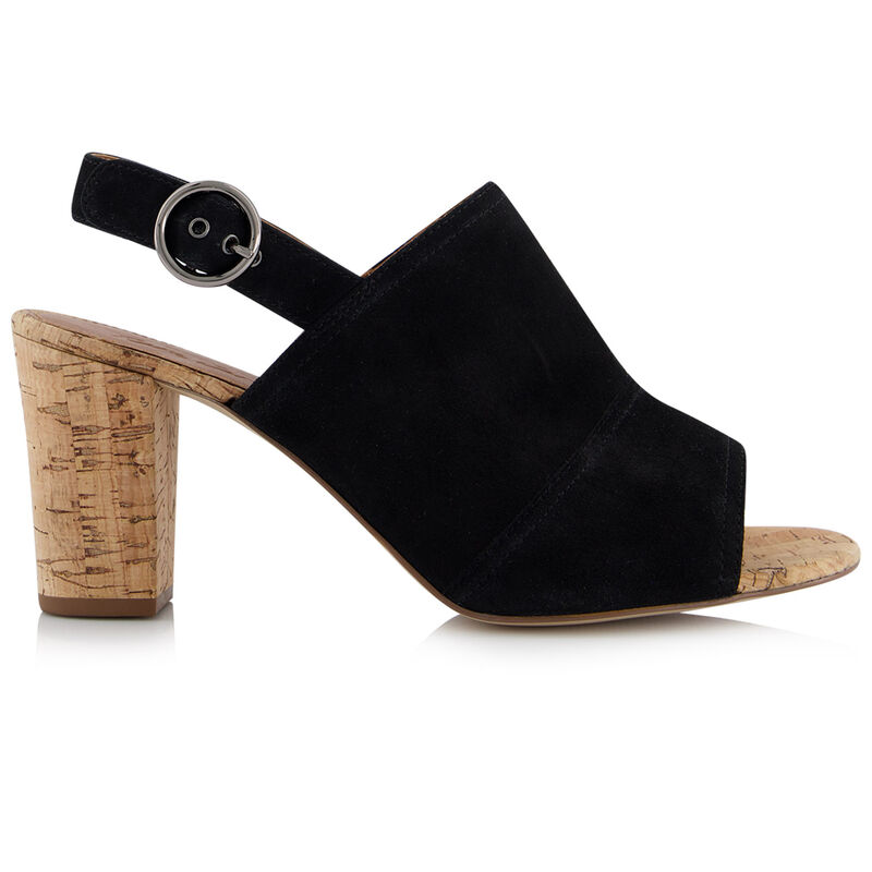 Rare Earth Makayla Block Heel Sandal -  black
