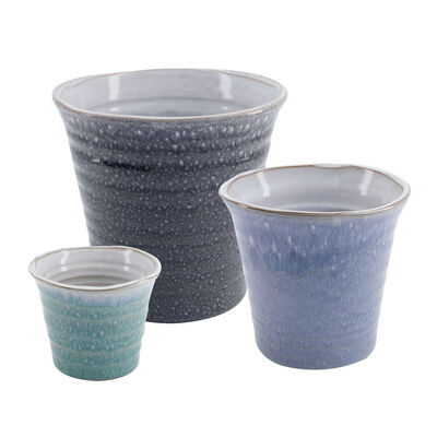 Small Blue Mottled Planter