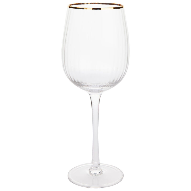 Gold Rim Wine Glass -  gold