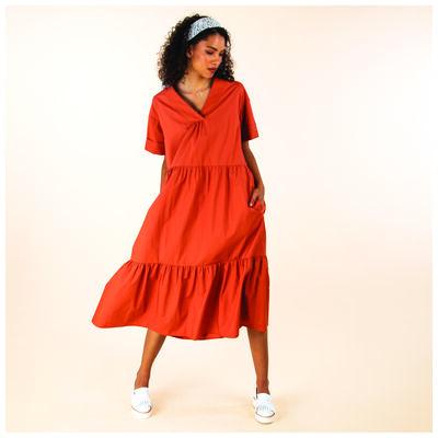 Caris Tiered Dress