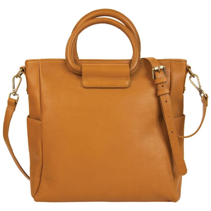 Maryam Leather Shopper Bag -  ochre