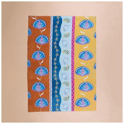 Mixed Print Tea Towel With Tassels