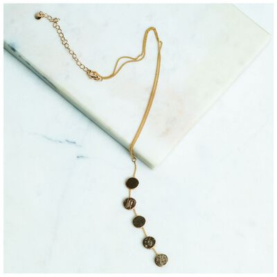Polished Disk Y-Chain Necklace