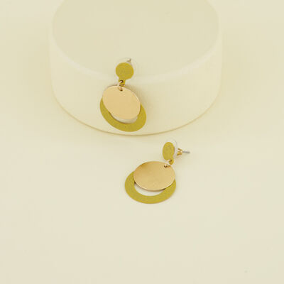 Circular Layered Drop Earrings